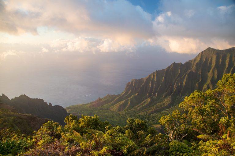 Kalalau Lookout at Sunset – Kauai, Hawaii