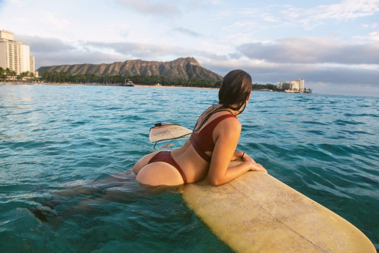 Surfing the Famous Waikiki Beach