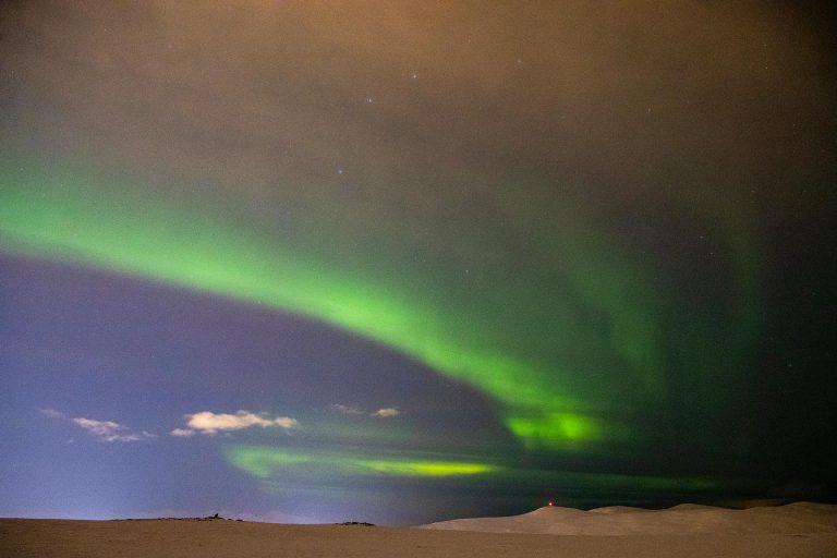 Northern Lights Timelapse on Fjellheisen Mountain